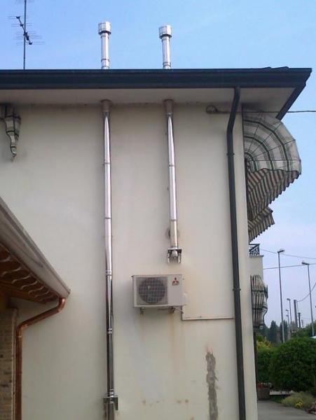 Tubi esterno per stufe a pellet termosifoni in ghisa - Stufe a pellet da collegare ai termosifoni ...